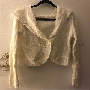 Sweaters - Cream crop sweater
